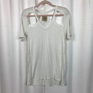 Chaser White Cut Out T-shirt Sz.S